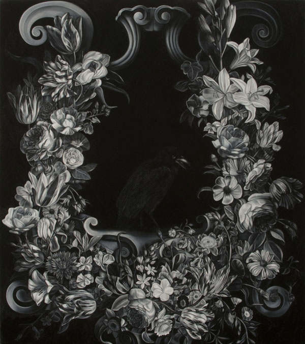 Blackbirdinfloralcartouche