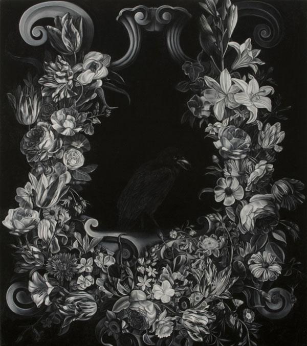 Blackbirdinfloralcartouche