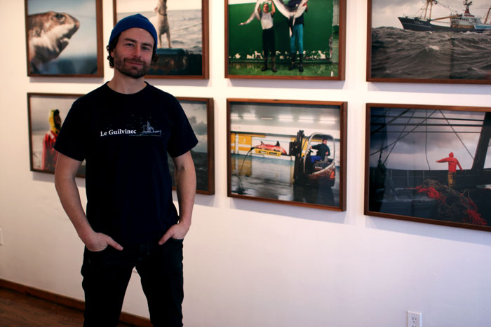 Corey with small photos