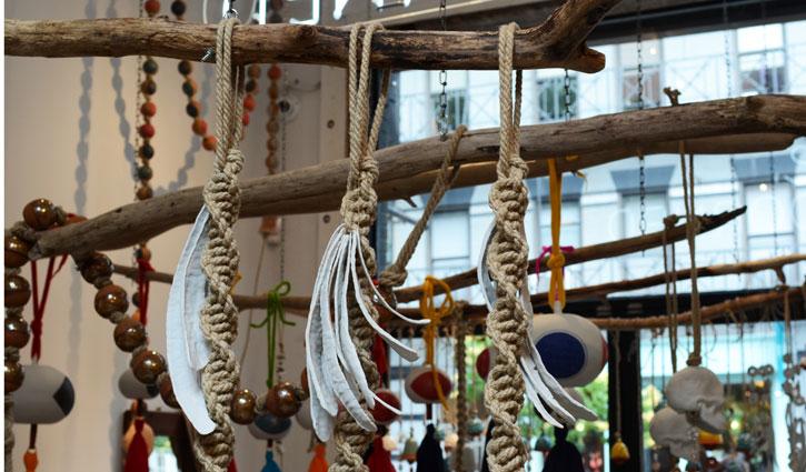 Detail-of-Braided-Bell-with-Bones-Porcelain-Hemp