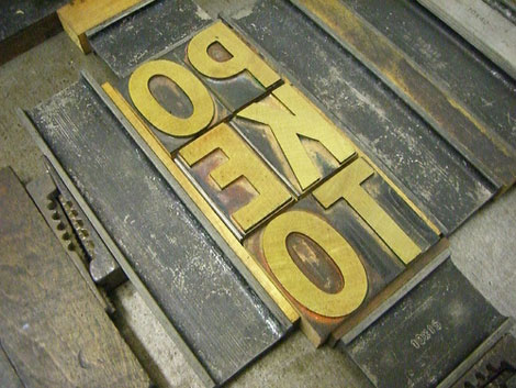 Poketoletterpress