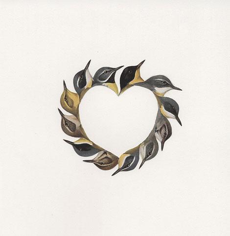 Birdheartprint